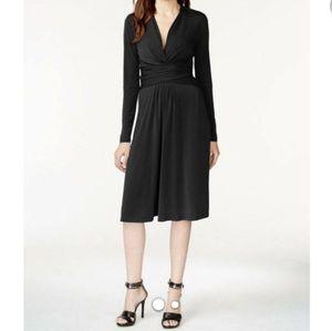CALVIN KLEIN LONG SLEEVE BLACK DRESS SIZE 4